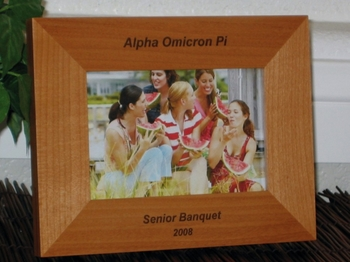 Greek Picture Frame - Personalized Frame - Laser Engraved Text