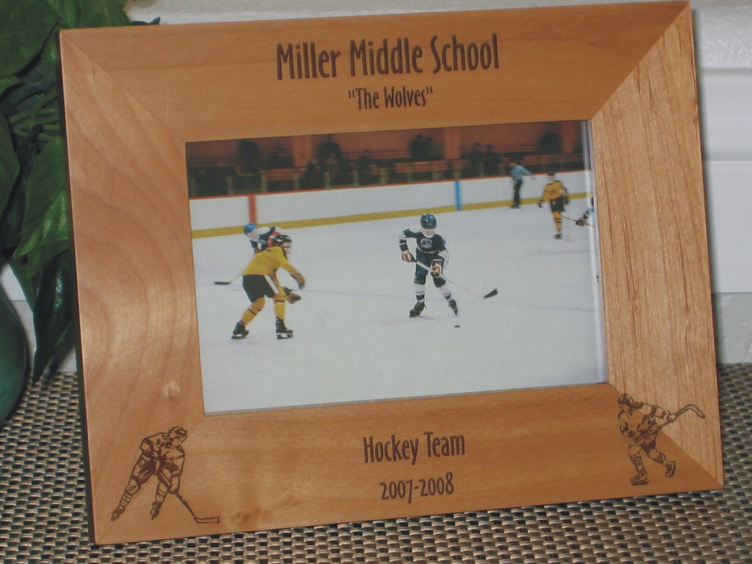 Hockey Picture Frame - Personalized Frame - Laser Engraved Hockey ...