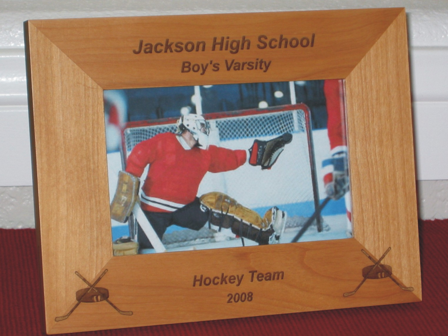 Awesome Hockey Stick Picture Frame Ornament - Framed Art Ideas ...