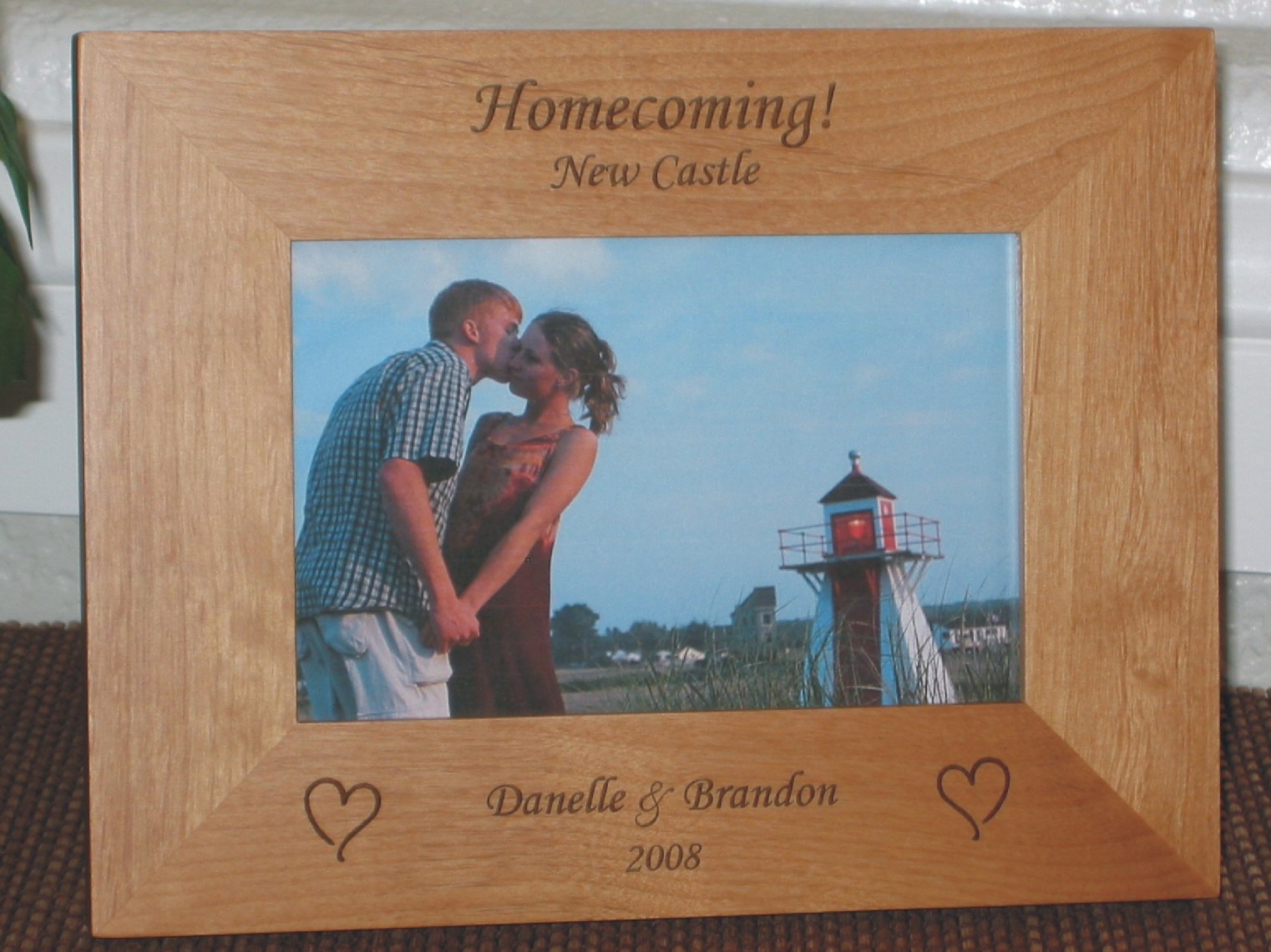 Homecoming Picture Frame - Personalized School Frame - Laser Engaved ...