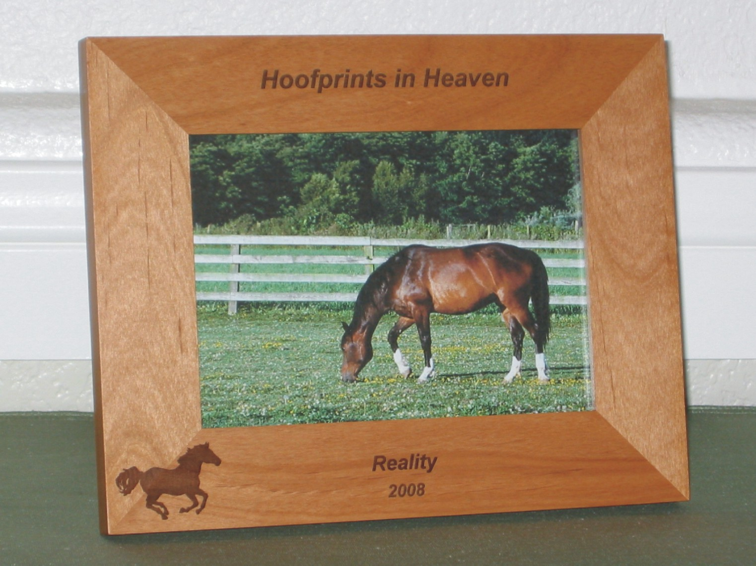 Animal picture frames personalized animal picture frames horse frames jeuxipadfo Gallery