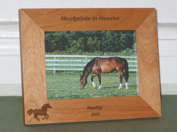 Horse Memorial Frame - In Loving Memory Personalized - Laser Engraved Picture Frame