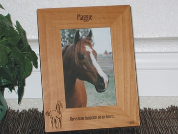 Horse Picture Frame - Personalized Frame - Laser Engraved Horse