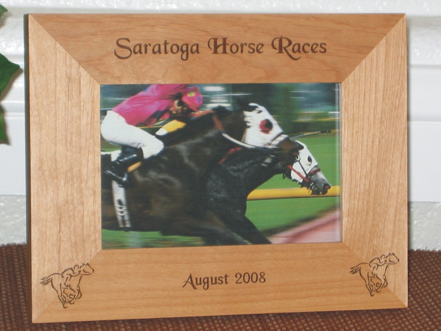 Horse picture frames personalized horse picture frames horse racing picture frame personalized frame laser engraved racing horses jeuxipadfo Gallery