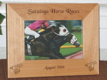 Horse Racing Picture Frame - Personalized Frame - Laser Engraved Racing Horses
