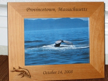 Hump Back Whale Picture Frame - Personalized Frame - Laser Engraved Hump Back Whale