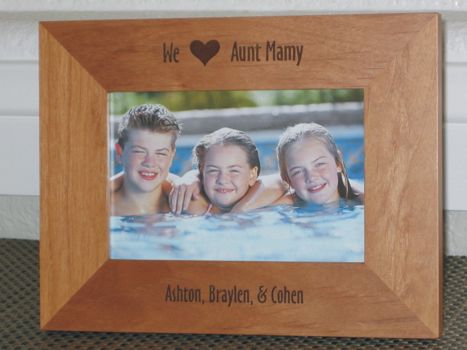 I Love My Aunt Picture Frame - Personalized Frame - Laser Engraved I ...