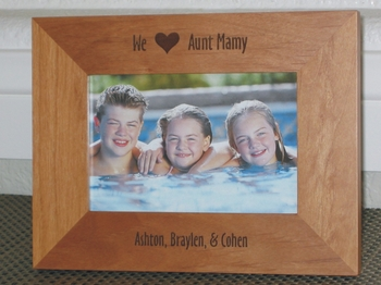 I Love My Aunt Picture Frame - Personalized Frame - Laser Engraved I Love My Aunt