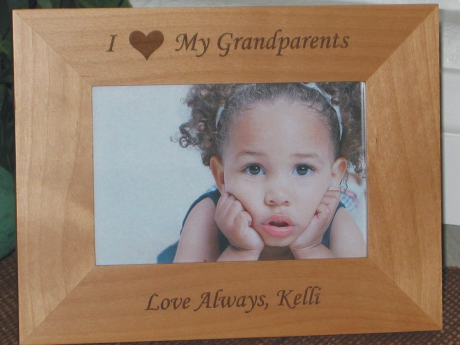 I Love My Grandparents Picture Frame - Personalized Frame - Laser ...