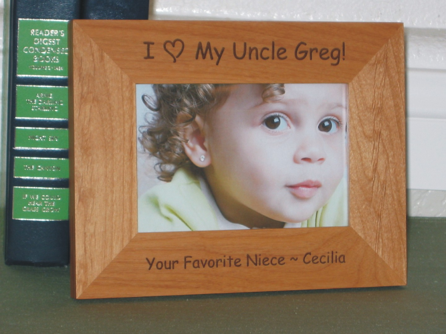 i love my uncle picture frame personalized frame laser