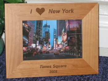 I Love New Y ork Picture Frame - Personalized Frame - Laser Engraved I Love NY