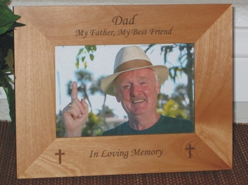 In Loving Memory Picture Frame - Personalized Cross Frame - Laser Engraved Cross