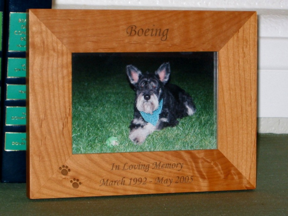 In Loving Memory Picture Frame - Personalized Pet Dog Frame - Laser ...