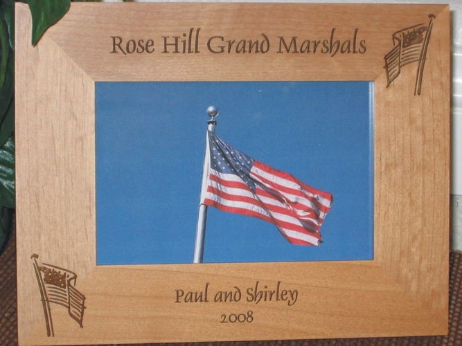 July 4th Picture Frame - Personalized Frame - Laser Engraved American Flag