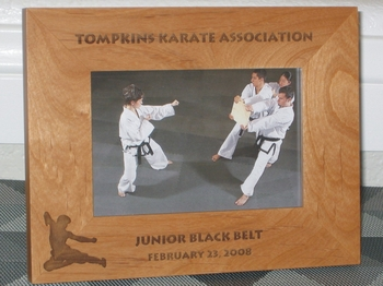 Karate Picture Frame - Personalized Frame - Laser Engraved Karate