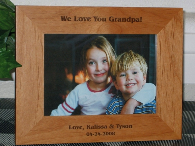 Kids Picture Frame - Personalized Frame - Laser Engraved Text