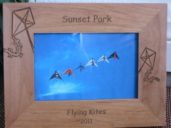 Kite Picture Frame - Personalized Frame - Laser Engraved Kites