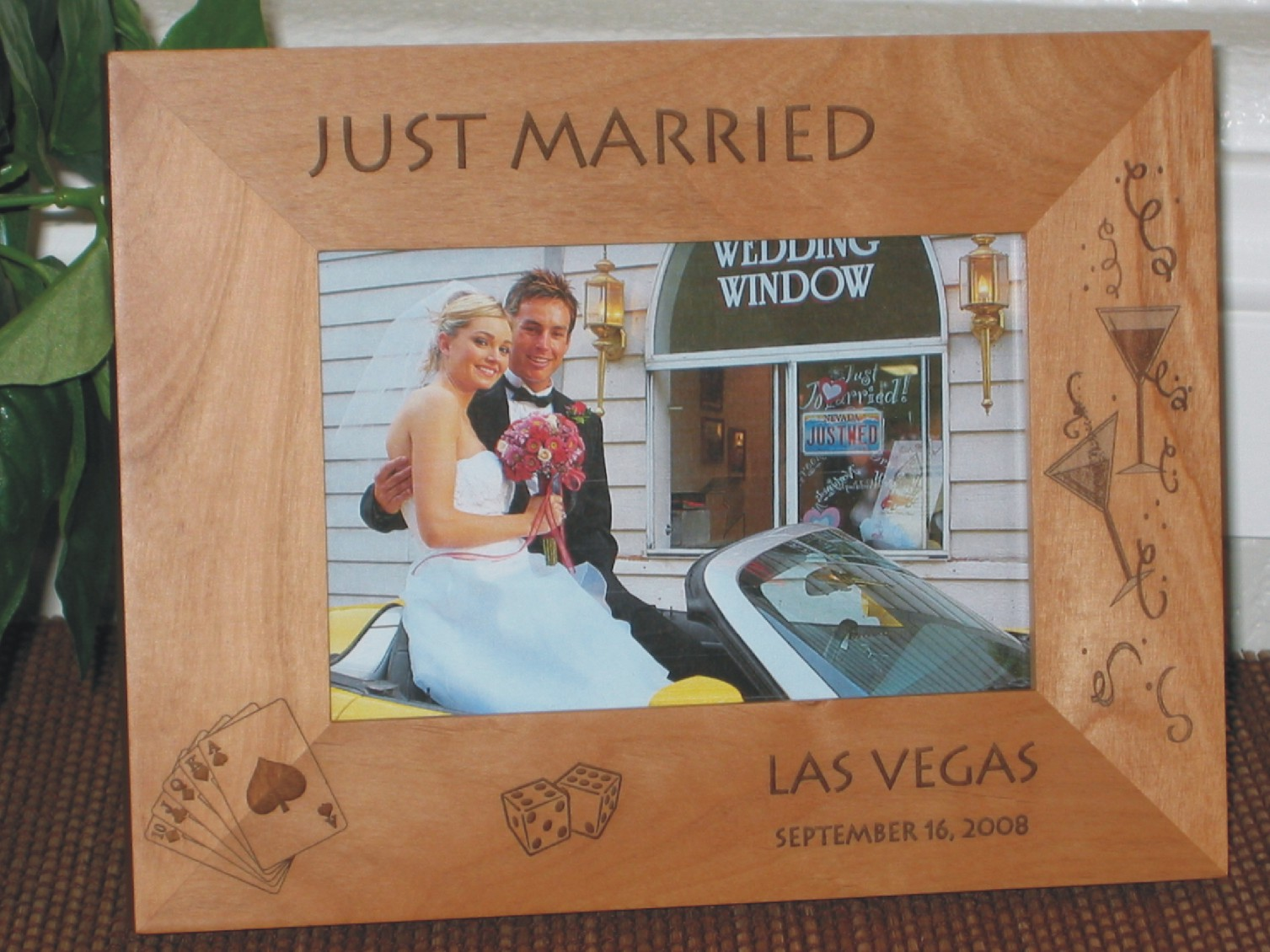 Las Vegas Picture Frame - Personalized Frame - Laser Engraved New Years