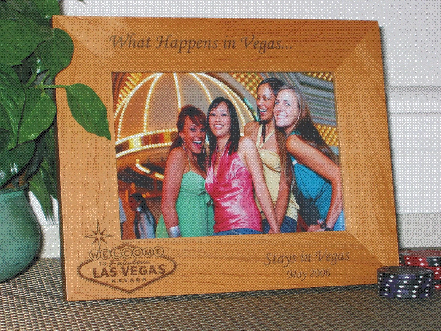 Las Vegas Sign Picture Frame - Personalized Frame - Laser Engraved ...