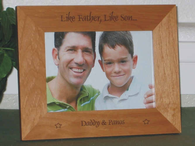 Like Father Like Son Picture Frame - Personalized Frame - Laser Engraved Like Father Like Son