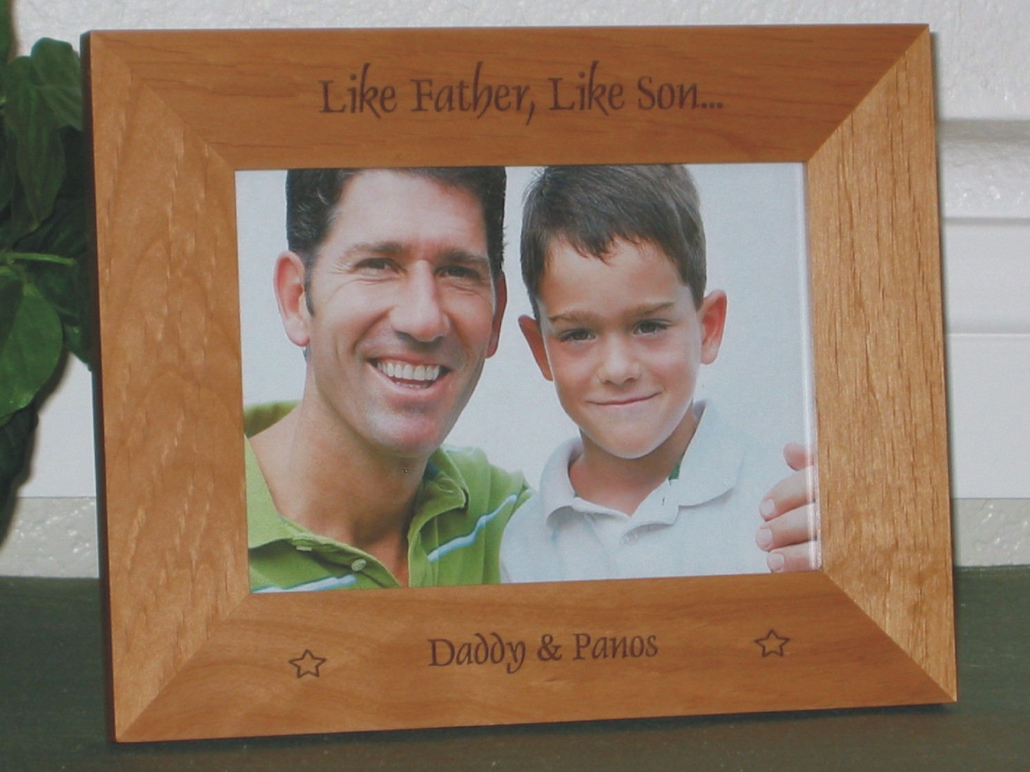 Like Father Like Son Picture Frame Personalized Frame Laser Engraved Stars