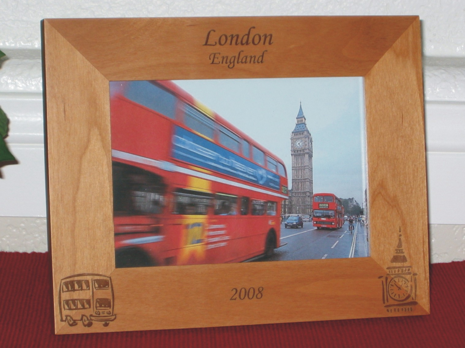 London England Picture Frame - Personalized Frame - Laser Engraved ...