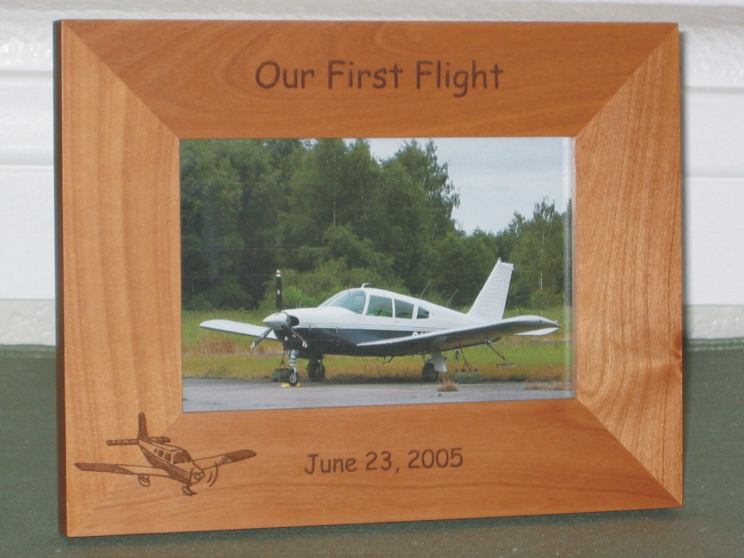 Low wing plane picture frame personalized frame laser engraved low wing plane picture frame personalized frame laser engraved low wing airplane jeuxipadfo Gallery