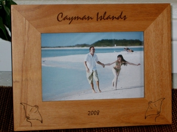 Manta Ray Picture Frame - Personalized Frame - Laser Engraved Manta Rays