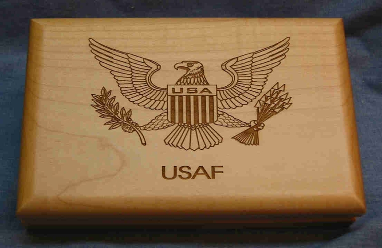 Military Gift Box - Personalized Keepsake Box - Laser Engraved Army * Navy * Air Force* Marines