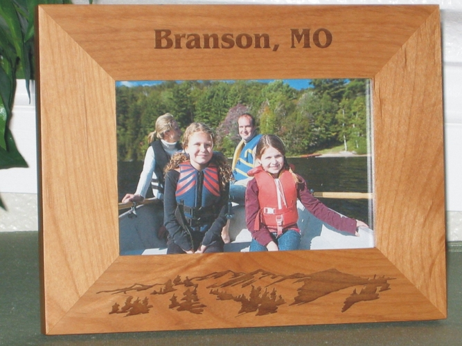 Missouri Picture Frame - Personalized Frame - Laser Engraved Mountains