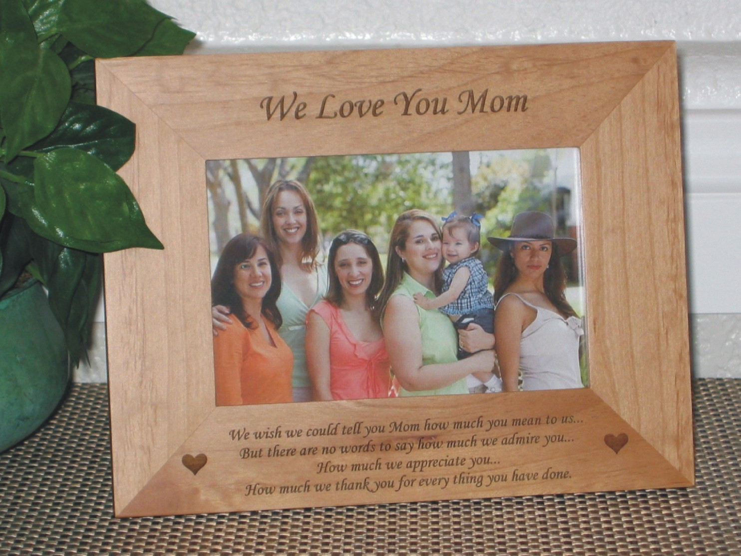 Mothers Day Poem Picture Frame - Personalized Frame - Laser Engraved ...