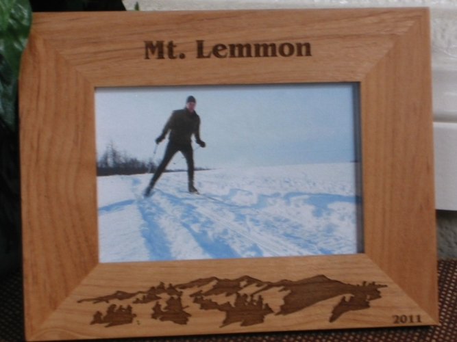Mt Lemmon Picture Frame - Personalized Frame - Laser Engraved Mountains