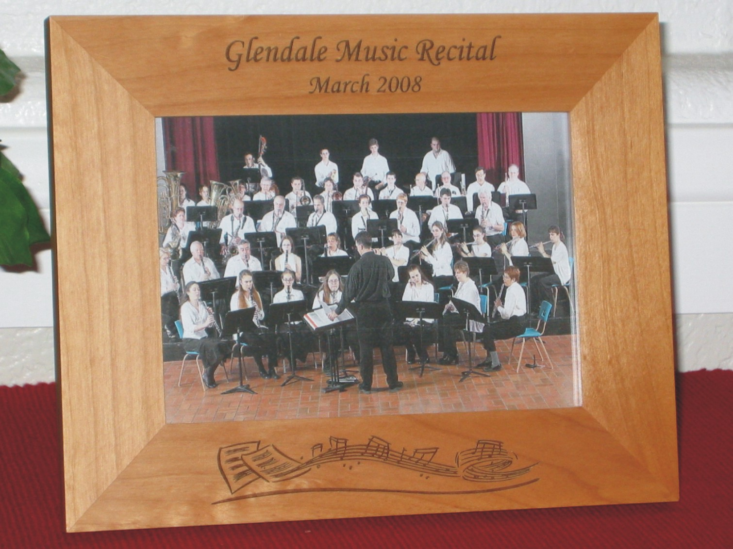 Music Picture Frame - Personalized Frame - Laser Engraved Music Theme