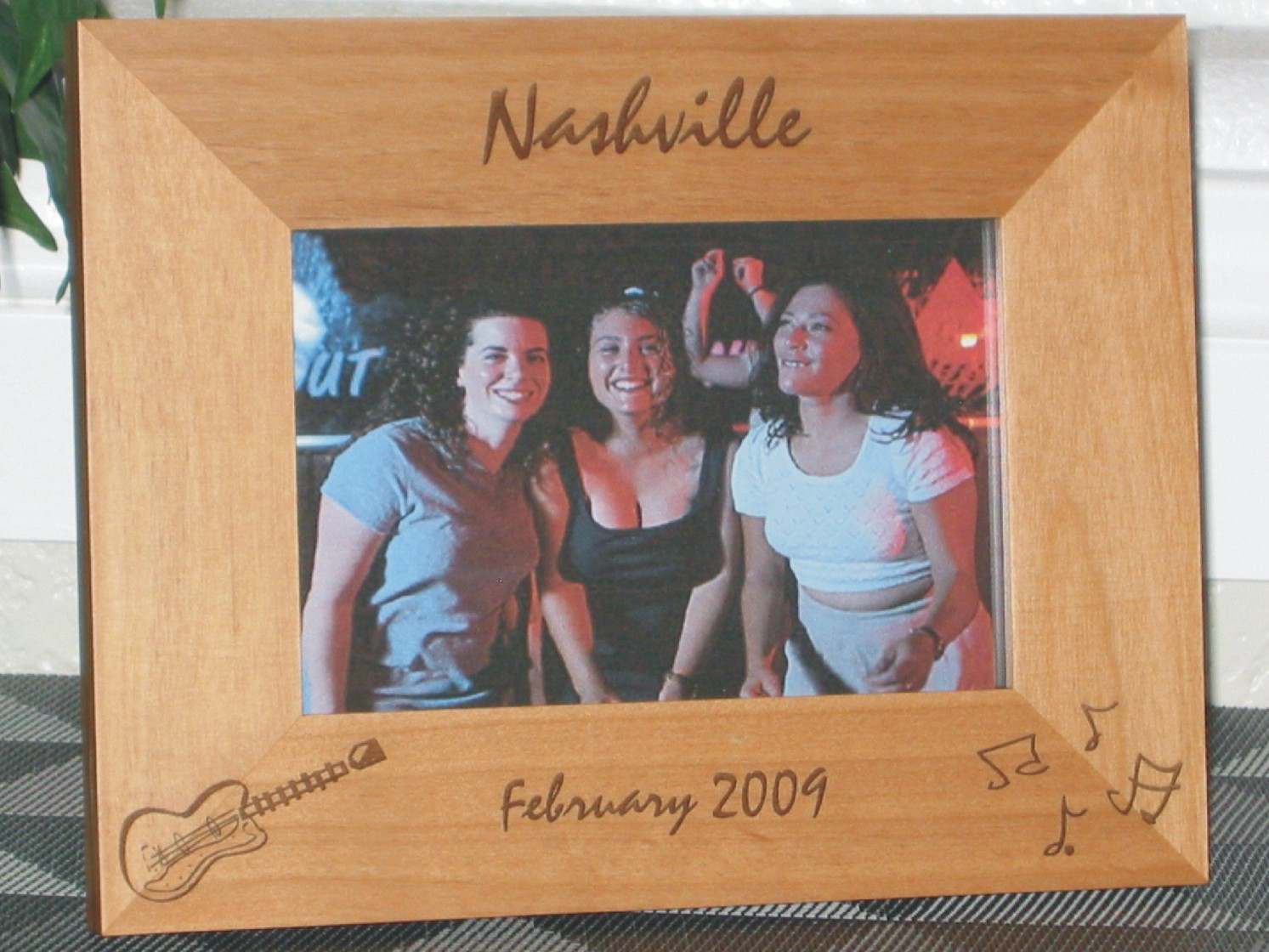 Nashville picture frame personalized frame laser engraved nashville picture frame personalized frame laser engraved guitar music notes jeuxipadfo Image collections