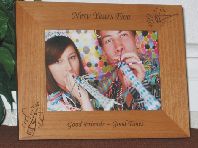 New Years Eve Picture Frame - Personalized Frame - Laser Engraved New Years Eve Party