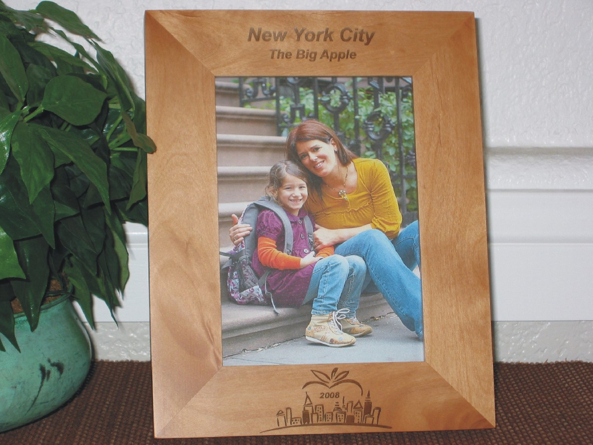New York City Picture Frames - Personalized Frame - Laser Engraved ...
