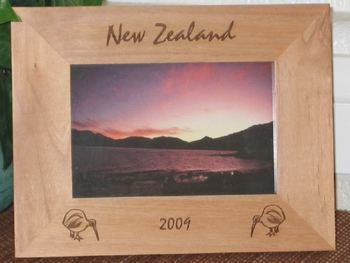 New Zealand Picture Frame - Personalized Frame - Las Engraved Kiwi