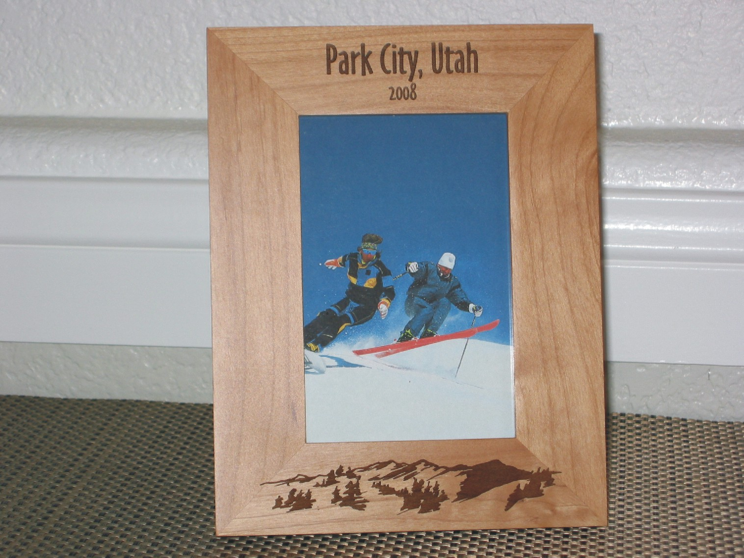 Park City Utah Picture Frame Personalized Frame Laser Engraved Mountains
