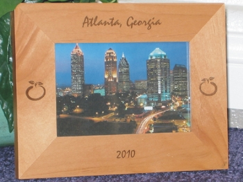 Peach Picture Frame - Personalized Frame - Laser Engraved Peaches