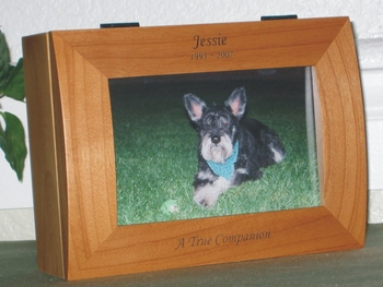 Pet Memorial Photo Box - In Loving Memory for Dog or Cat