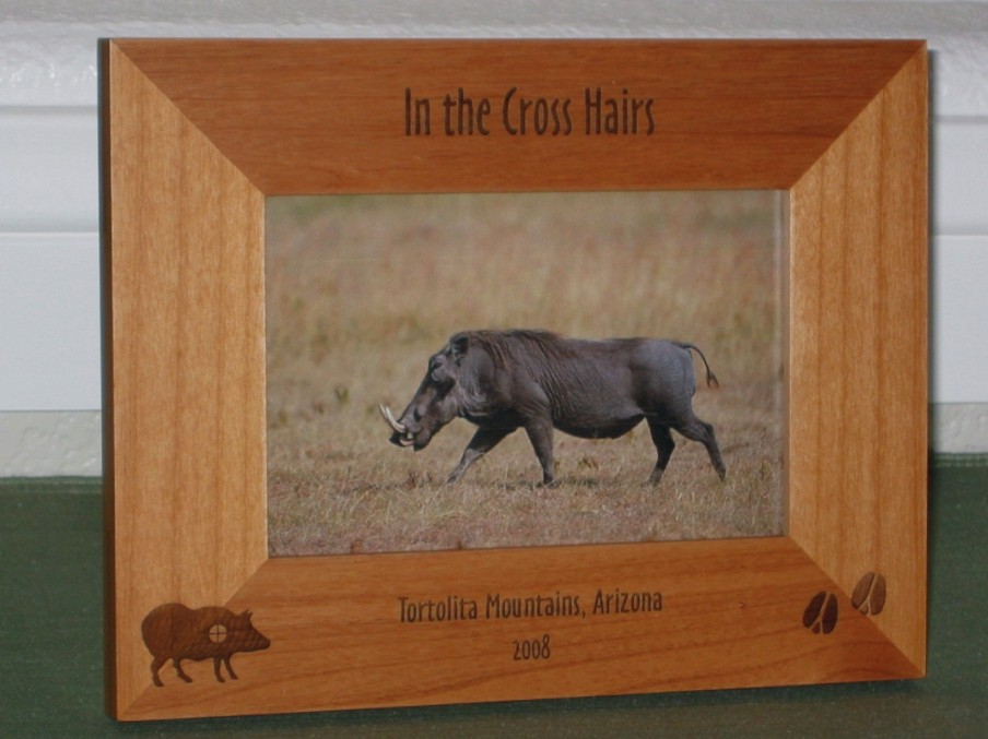 Pig Hunting Picture Frame - Personalized Frame - Laser Engraved Wild ...