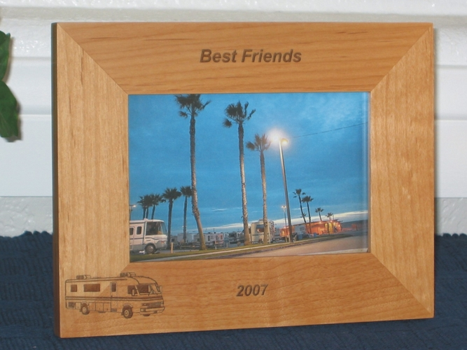 RV Picture Frame - Personalized Frame - Laser Engraved RV