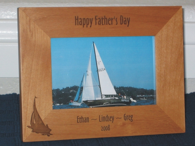 Sail Boat Picture Frame - Personalized Frame - Laser Engraved Sail Boat