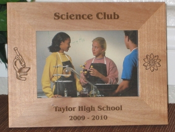 Science Picture Frame - Personalized Frame - Laser Engraved Science Theme