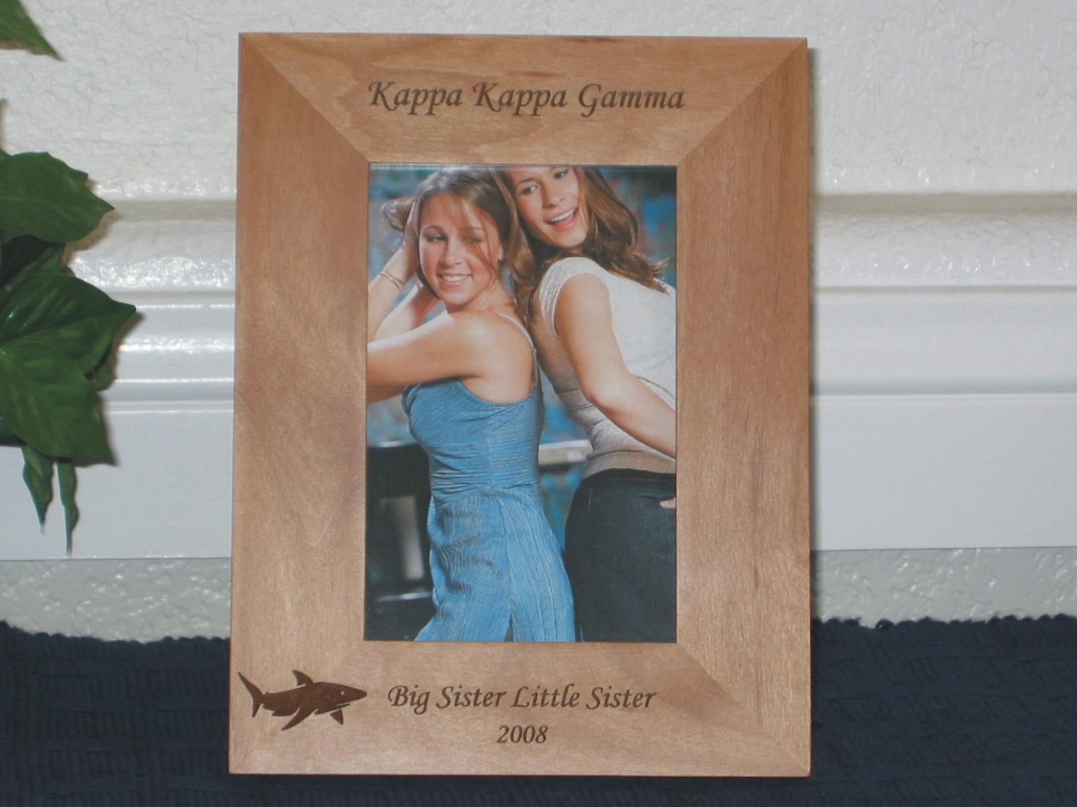 Shark Picture Frame - Personalized Frame - Laser Engraved Shark