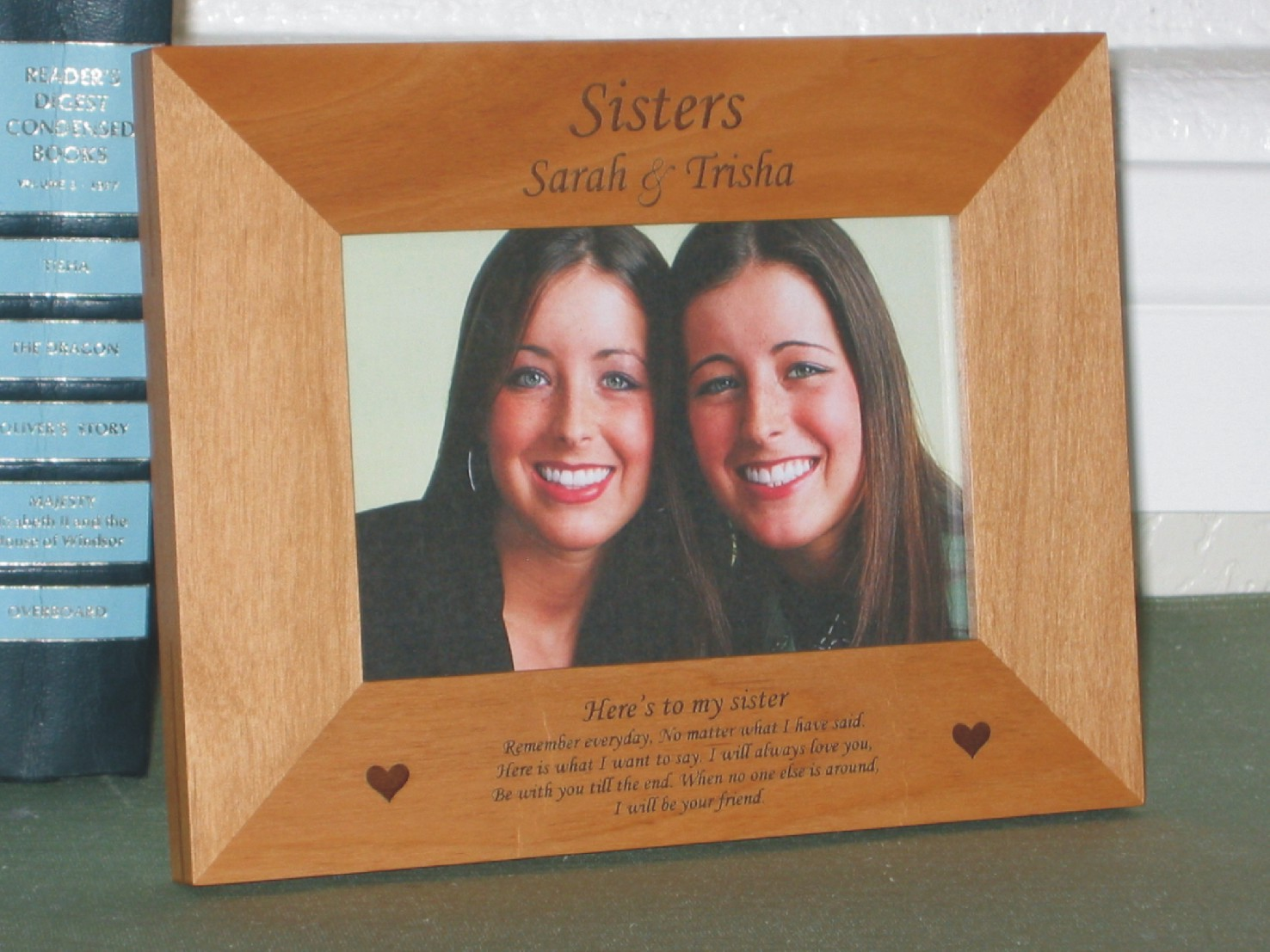 Sisters Picture Frame - Personalized Sisters Poem Frame