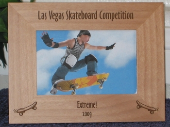 Skateboard Picture Frame - Personalized Frame - Laser Engraved Skateboards