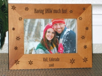 Snow Picture Frames - Ski Picture Frames