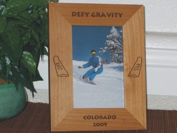 Snowboard Picture Frame - Personalized Frames - Laser Engraved Snowboards