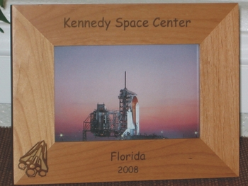 Space Shuttle Picture Frame - Personalized Frame - Laser Engraved Space Shuttle Rocket
